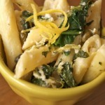 lemon cream pasta with spinach and capers