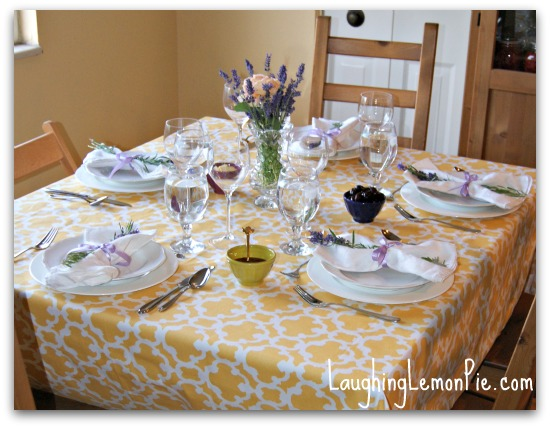 Table Setting For Dinner Party : Here's a photo of the table all laid out and ready to go for my ...