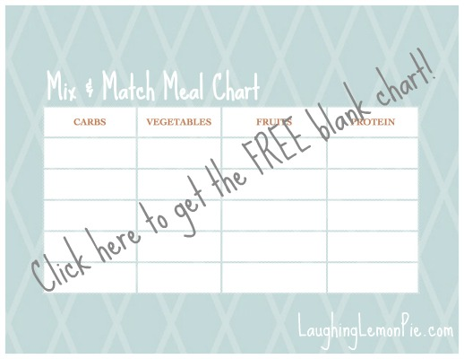 Use the Mix & Match Meal Chart to Reward Your Picky Eater