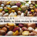 soak beans to save money & time