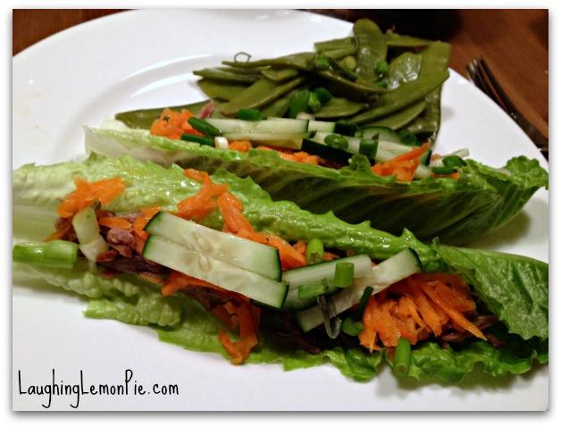 Vietnamese-Inspired Lettuce Wraps | LaughingLemonPie.com