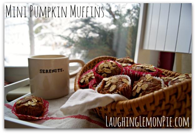 Low-cal mini pumpkin muffins from LaughingLemonPie.com