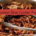 Easiest Slow Cooker Pork | LaughingLemonPie.com