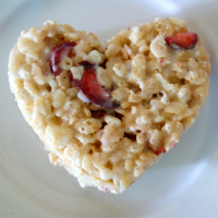 Allergy-Free Raspberry Marshmallow Krispy Hearts