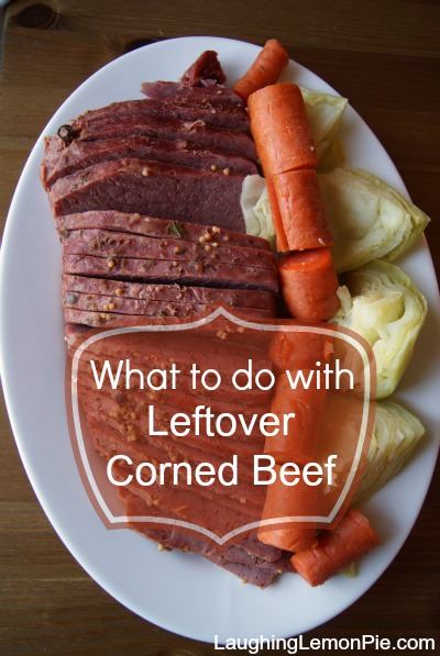 A week's worth of recipes from leftover corned beef. Laughinglemonpie.com