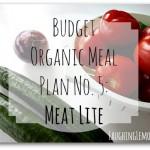 budget organic meal plan