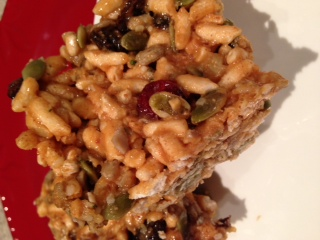 Crispies-  A healthier version of rice krispie squares