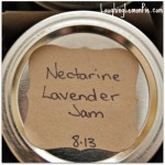 nectarine jam with lavender laughinglemonpie.com