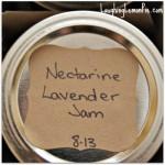nectarine jam with lavender laughinglemonpie.com