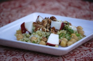 Quinoa, Chickpea & Apple Salad from LaughingLemonPie.com