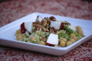 Quinoa, Chickpea & Apple Salad from LaughingLemonPie.com