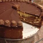 Chocolate Peanut Butter Cheesecake | LaughingLemonPie.com