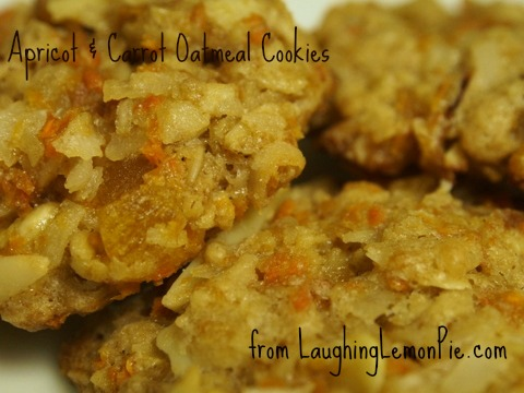 Apricot & Carrot Oatmeal Cookies