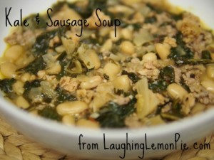 Kale & Sausage Soup from LaughingLemonPie.com