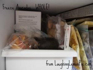 Freezing Avocados on LaughingLemonPie.com