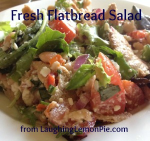 Bright and Fresh Flatbread Salad