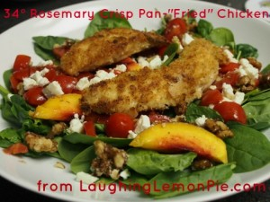 "34° Rosemary Crisp Pan-""Fried"" Chicken from LaughingLemonPie.com"