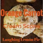 Orange Carrot Cream Scones on LaughingLemonPie.com