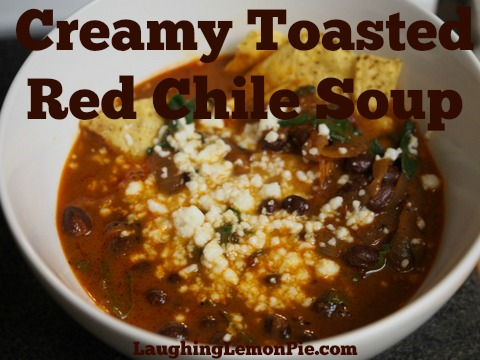 Creamy Toasted Red Chile Soup
