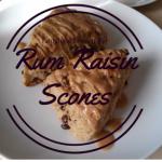 Rum Raisin Scones on LaughingLemonPie.com
