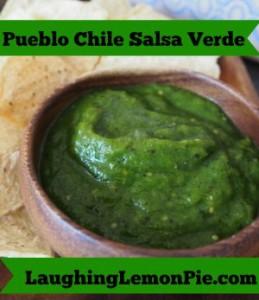 Pueblo Green Chile Salsa Verde on LaughingLemonPie.com