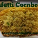 Confetti Cornbread on LaughingLemonPie.com