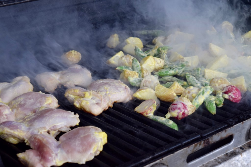 potato salad on the grill