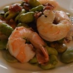 shrimp and fava beans